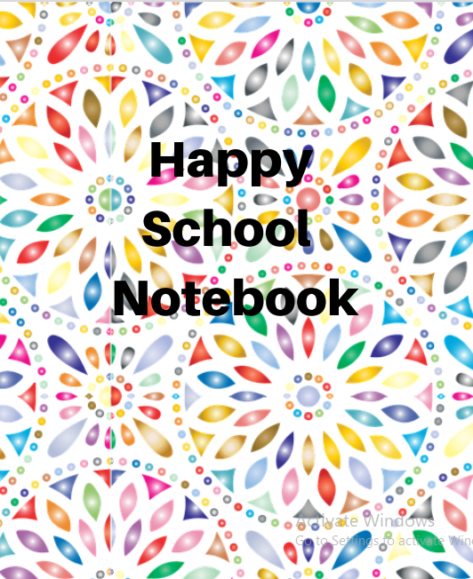 Happy school Notebook .This cute cats journal is used by many people especially students and those who love taking note